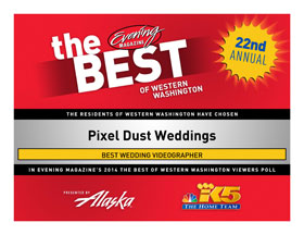 Pixel Dust wins Best Videographer in Western WA