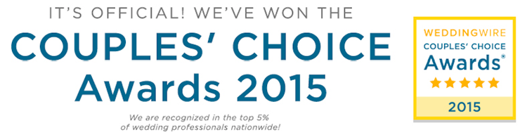 WeddingWire Couples Choice Award Winner Pixel Dust Weddings 2015