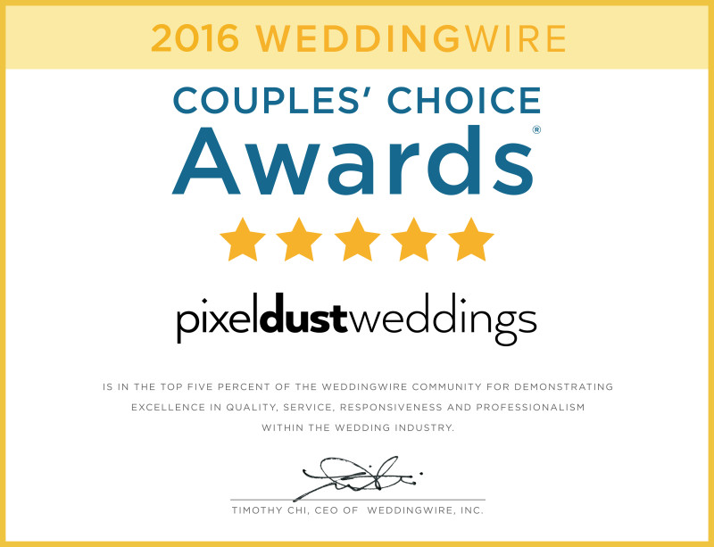 2016 Couple's Choice Award Certificate