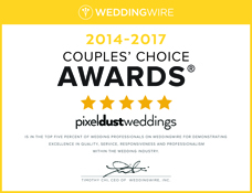 Pixel Dust Weddings Wins Wedding Wire's Couple's Choice Award 2016