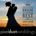 Seattle bride magazine image for seattle's best wedding videographer for 2018, 2017, 2016, 2015