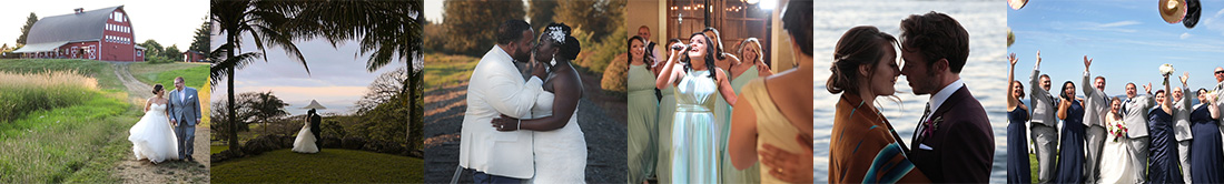 picture collection of PNW weddings from wedding videography