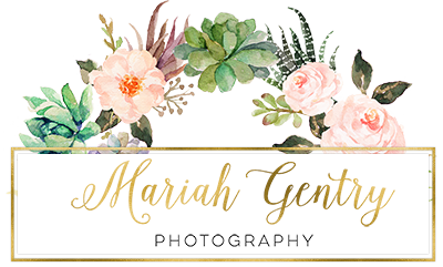 wedding photographer mariah gentry photography logo