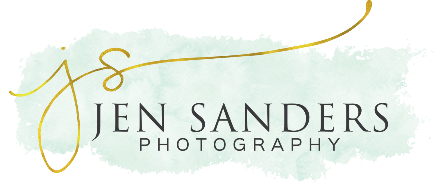 wedding photographer Jen Sanders Photography logo