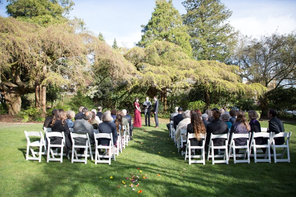 mid-week wedding videography special in seattle filmed at Parsons Garden