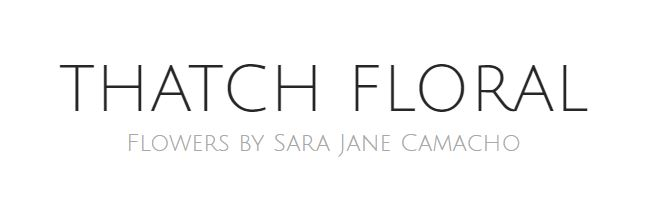 wedding floral company thatch floral logo