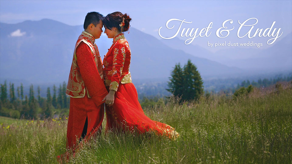traditional Chinese wedding dress wedding video at the club at snoqualmie ridge