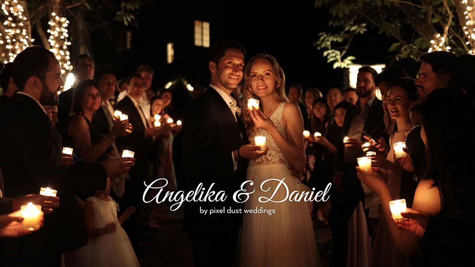 wedding grand exit with candles at chateau lill